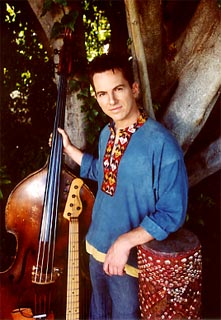 Larry Steen with electric & acoutic basses and drum